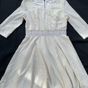 Soft White A-line dress